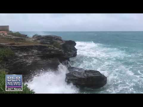 Wind & Waves On North Shore, Devonshire, Jan 23 2020