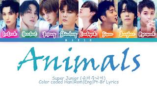 Super Junior (슈퍼주니어) – Animals (Color Coded Lyrics/Han/Rom/Eng/Pt-Br)
