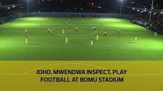 Joho, Mwendwa inspect, play football at Bomu stadium thumbnail