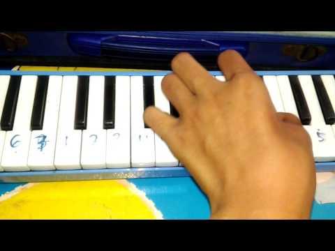 NOT lagu Alan walker Faded Menggunakan pianika #pa
