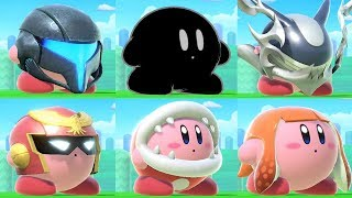 Super Smash Bros Ultimate - All Kirby Hats and Powers (+Piranha Plant)