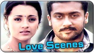 aaru movie surya trisha best love scenes surya trisha