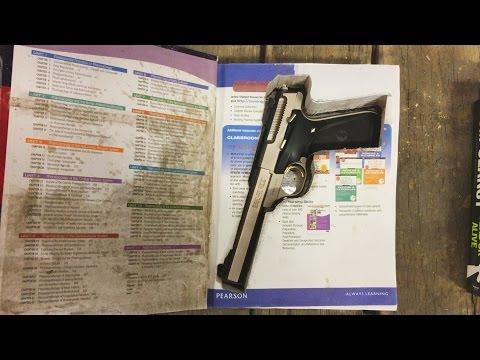Hidden Gun In Hollow Book - Waterjet Channel