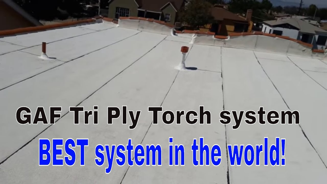 Torch Down Roofing Installation Gaf Cool Roof System Youtube
