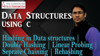105 Hashing in Data structures   Double Hashing   Linear Probing   Seprate Chaining   Rehashing