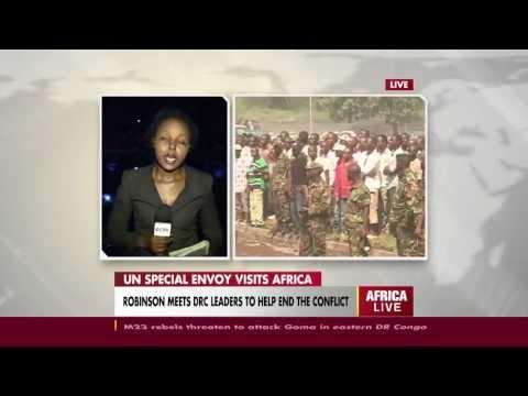 UN Special envoy Mary Robinson arrives in Goma