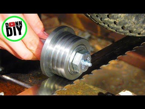 Turning Blade Guides & Making Blade Tensioning System - Band Sawmill Build #17