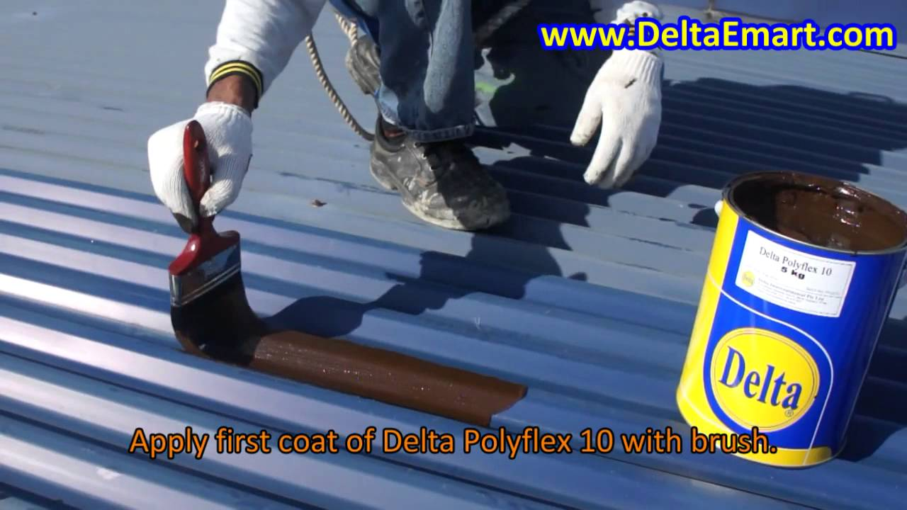 Stop Water Leakage Through Metal Roof Youtube