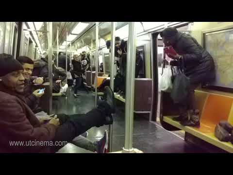 A fun ride in A train to Far Rockaway with a Rat. NYC Subway Nov, 2017
