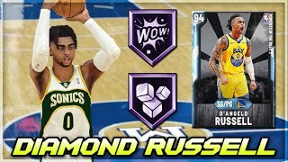 DIAMOND MOMENTS D'ANGELO RUSSELL GAMEPLAY!!   GOOD BUT NOT GREAT IN NBA 2K20 MyTEAM!!