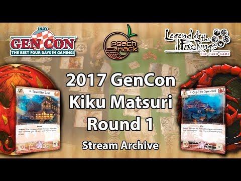 L5R - Phoenix vs. Scorpion - 2017 GenCon Kiku Matsuri Stream Archive - Round 1