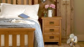 Salisbury Oak Wide 3 Drawer Bedside - Pinesolutions