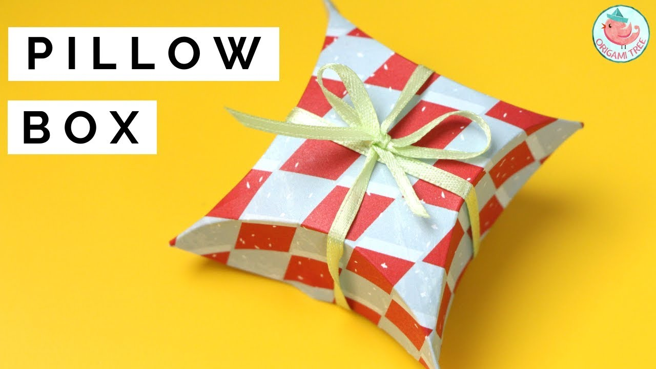 pillow box diy how to make a pillow box gift wrapping idea