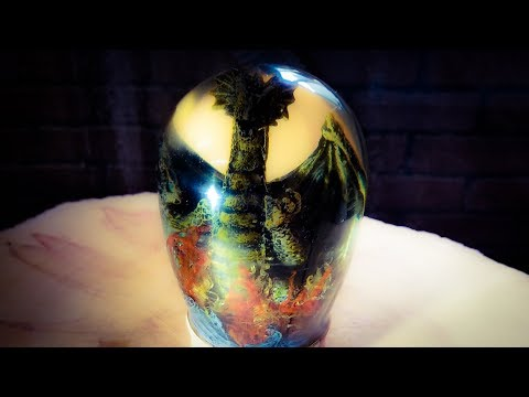 Turning a Captured Dragon - Epoxy Resin