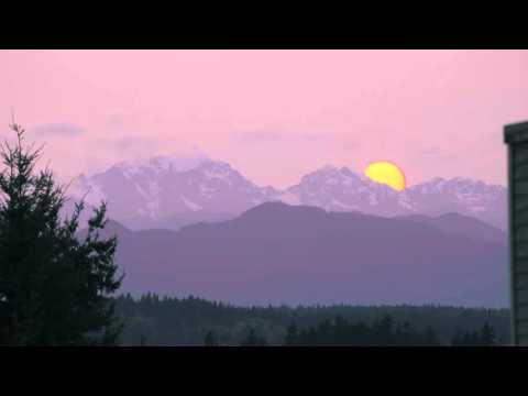 Sunset Olympic Mountains
