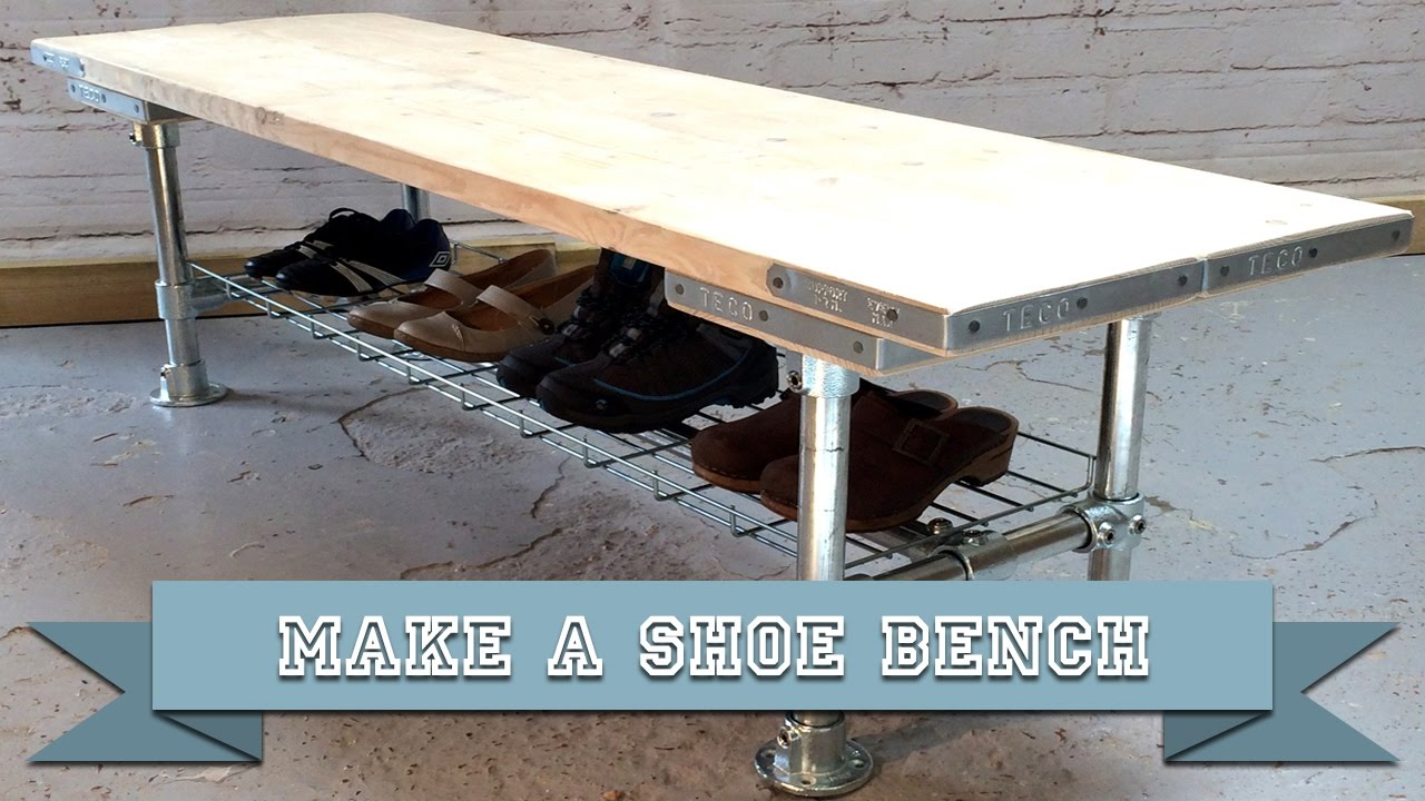 Make A Diy Bench Seat And Shoe Storage Rack With Kee Klamp