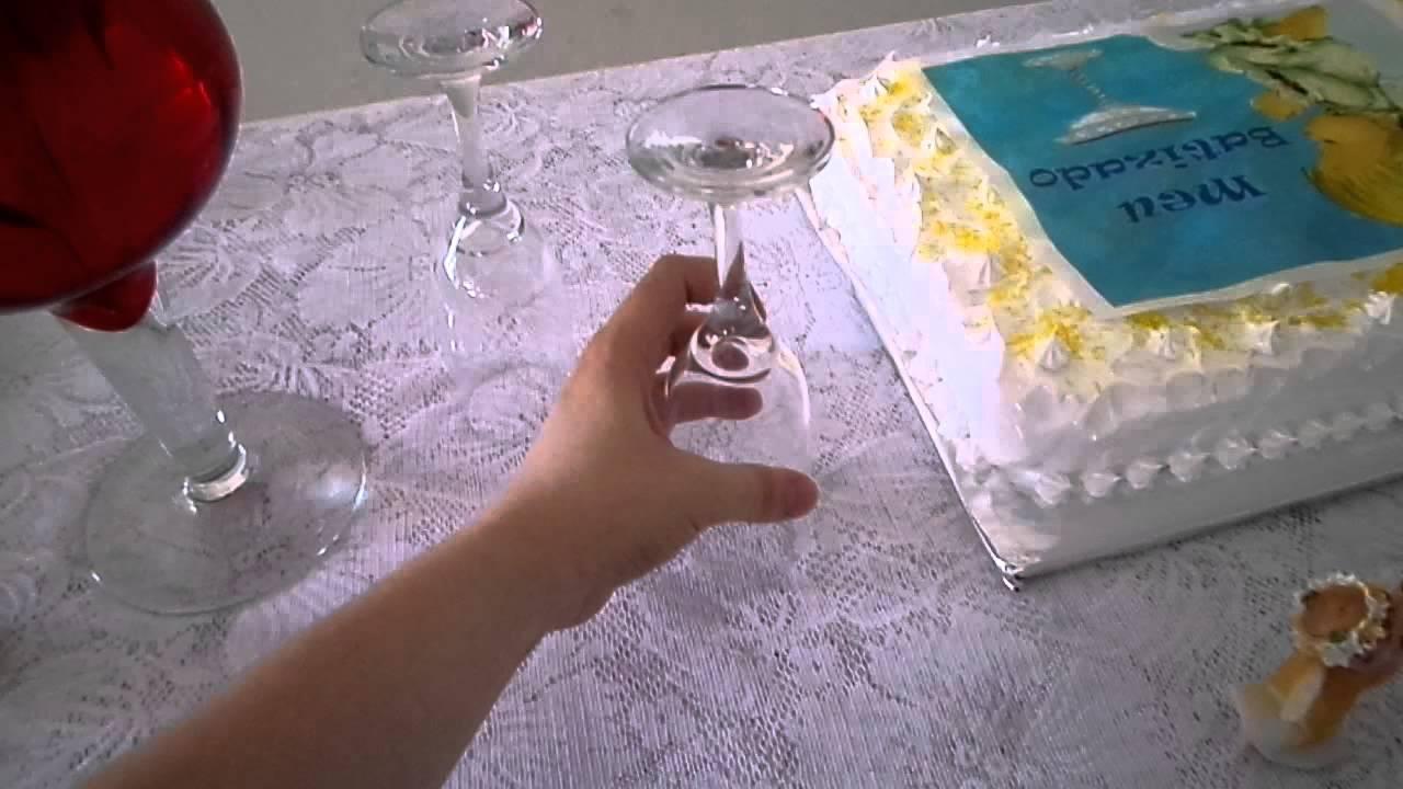 Decoraç u00e3o para Batizado fácil YouTube -> Ideias De Enfeite De Mesa Para Batizado