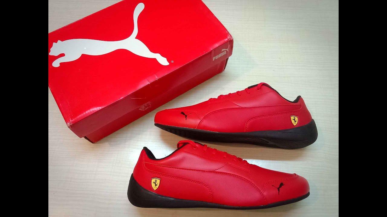 Puma Unisex Red Scuderia Ferrari Drift Cat 7 Sneakers - YouTube 336b1663d