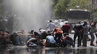 Diyarbakır'da kayyum tepkisi; protestoculara tazyikli suyla müdahale