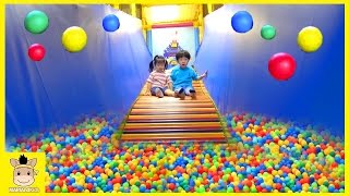 Learn Colors Indoor Playground Rainbow Slide for Toddlers Children Kids Play | MariAndKids Toys