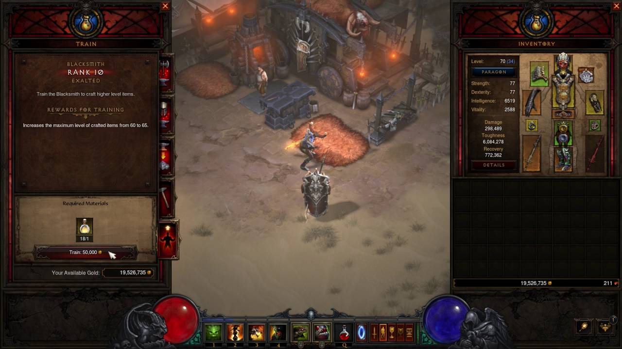 how to level up blacksmith in diablo 3 xbox 360
