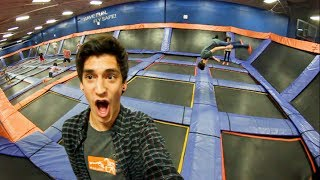 MY FIRST TIME AT A TRAMPOLINE PARK!