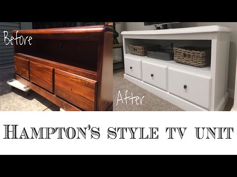Repurpose an entertainment center or TV Unit : Hampton's Style DIY