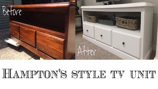 Repurpose an entertainment center or TV Unit : Hampton's Style DIY