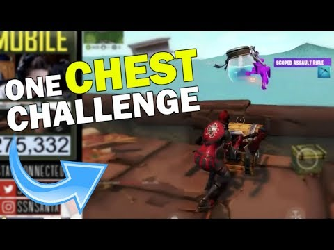 Winning A Game Of Fortnite Mobile ONLY Using The Scoped AR! - [One Chest Challenge]