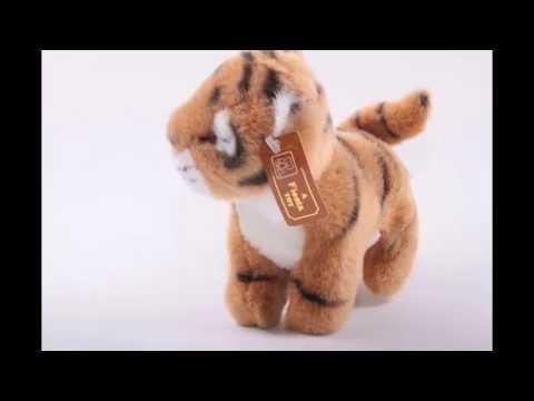 Vintage, 1990's, Tiger, Plush, Stuffed Animal, A Fiesta Toy, Tag, Smoke Free, Pet Free