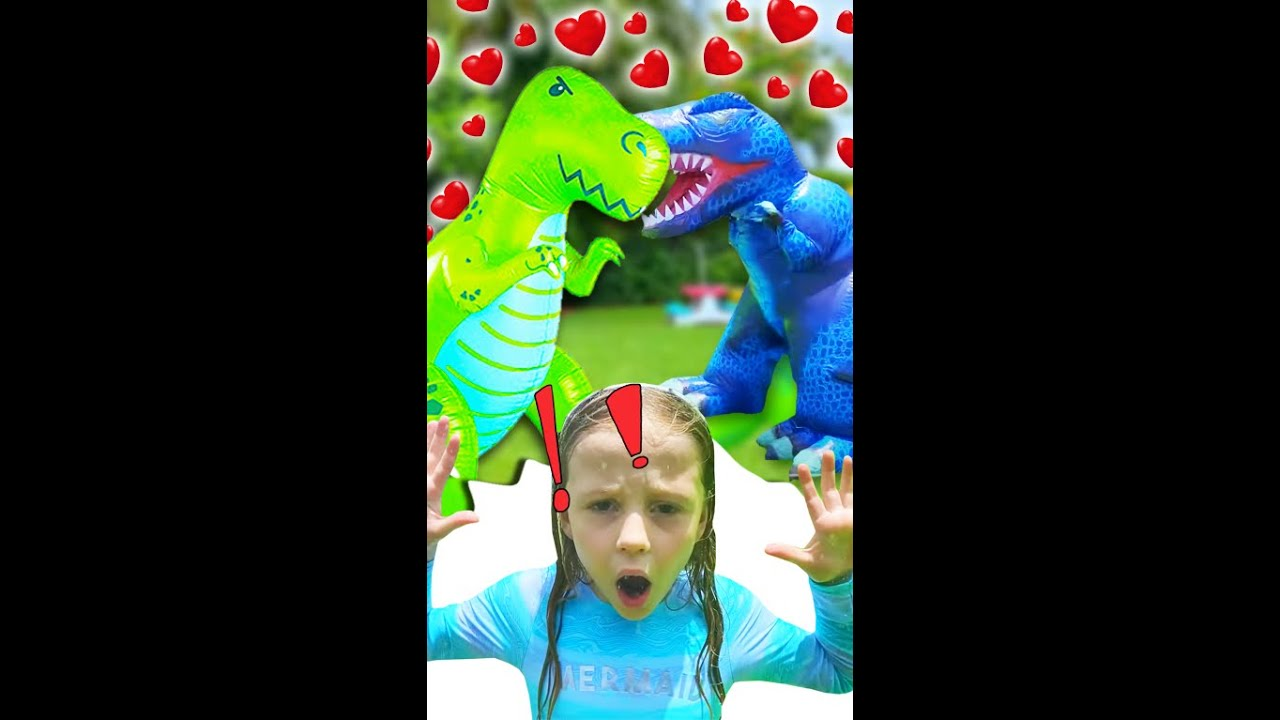 Nastya and the story about dinosaurs. #shorts