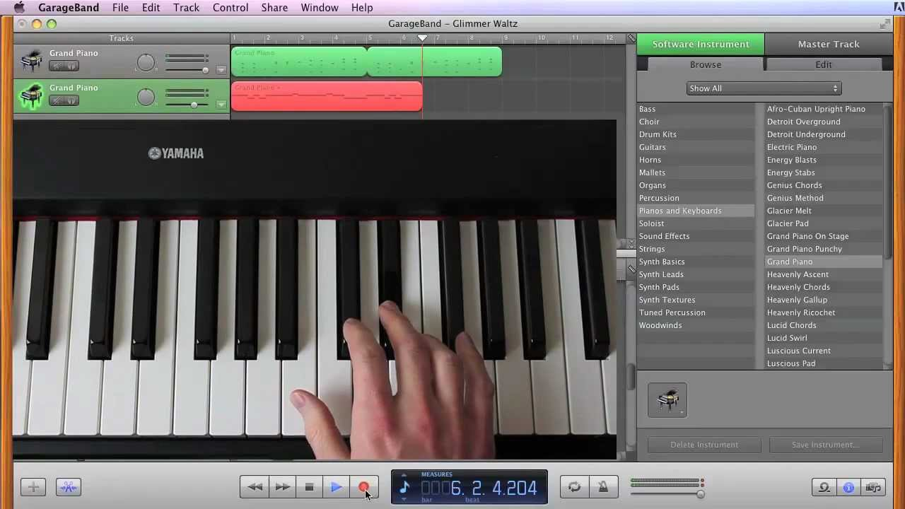 Garage Band Keyboard : Compose your own piano score in garageband youtube