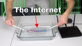 Can You Send The Internet Through Water Instead of Cables? The Literal Web Streaming Experiment!