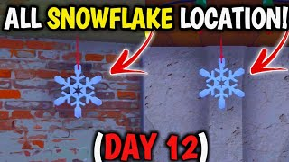 'Destroy Snowflake Decoration' Fortnite Snowflake LOCATION! 14 days of Fortnite! All Snowflakes