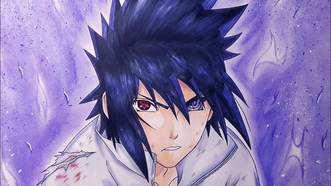 Drawing Sasuke Uchiha Eternal Sharingan and Rinnegan