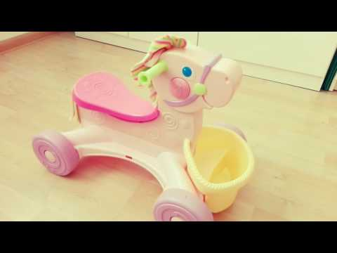 Fisher Price Brilliant Basics Roll-Along Musical Pony