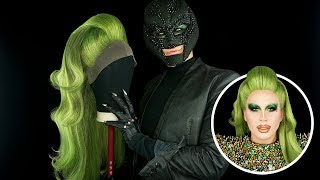 WIG TRANSFORMATION W/ MR VILLBERG - Green Drag Wig Tutorial