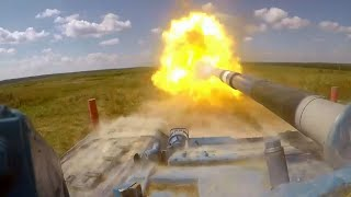 Захватывающие кадры боевой подготовки танкистов