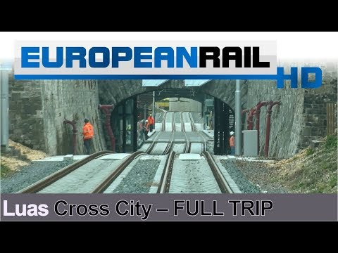 A trip on the new Luas Cross City line - Full Journey 13 November 2017