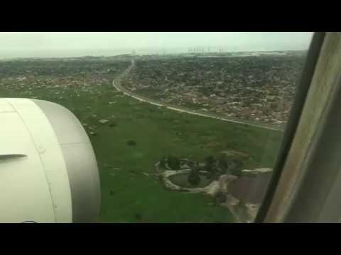 Landing to Lome Airport Togo from Guarulhos Airport São Paulo 2016