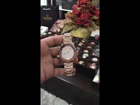 844a998a8856 MICHAEL KORS Camile Rose Crystal Pave Rose Gold-tone Ladies Watch ...