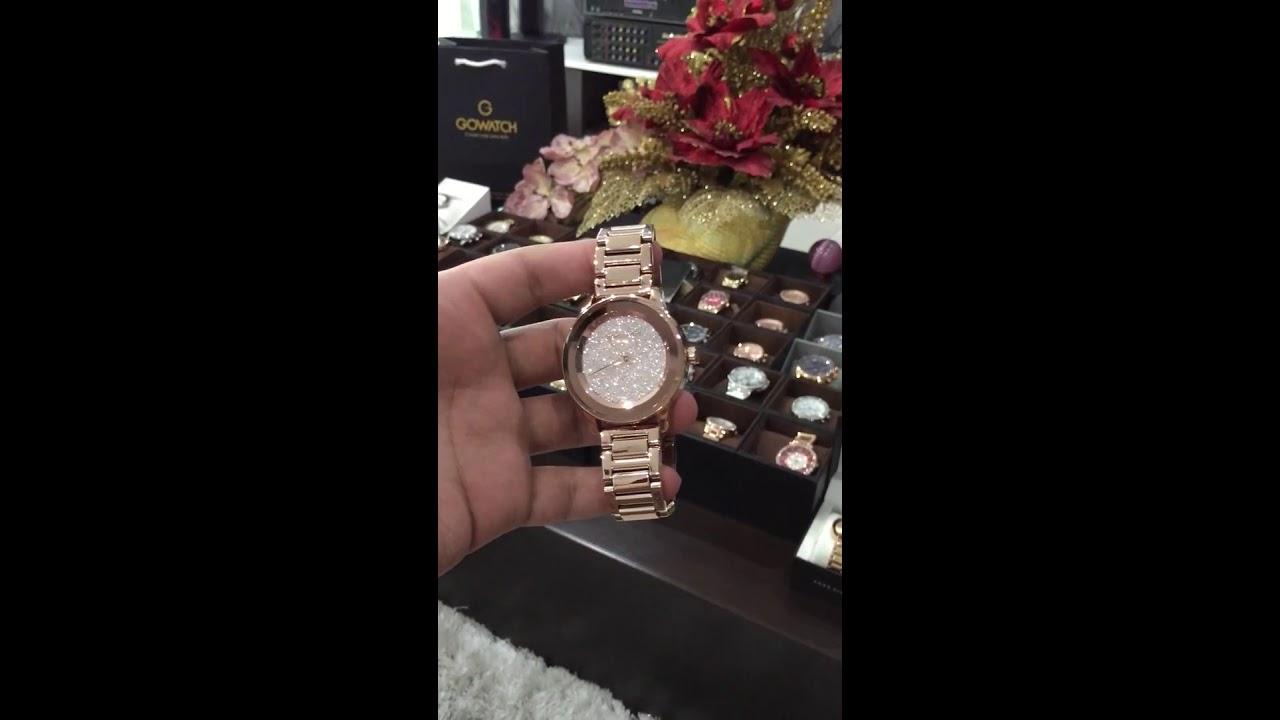 MICHAEL KORS Kinley Pavé Rose Gold Mk6210 - YouTube 5e4d0c06db