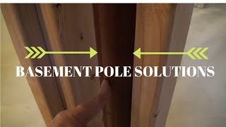 Basement Pole Design Ideas (hiding basement support columns)