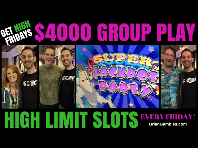 $4,000 High Limit Group Pull ✦ 20 Person Group for GET HIGH FRIDAYS ✦ EVERY FRIDAY at MGM Las Vegas