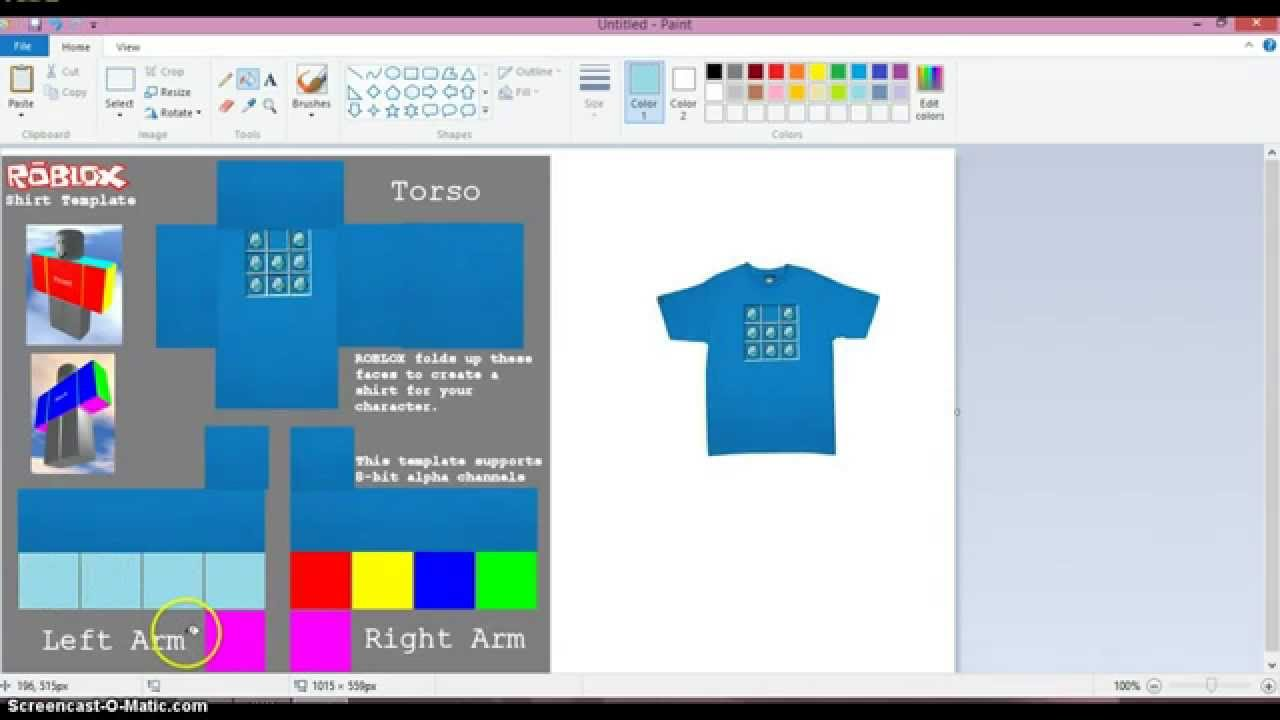 how to make a t shirt in roblox 2015