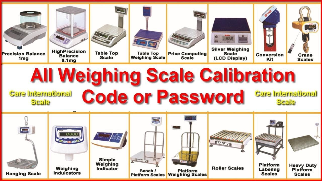 All Weighing Scale Calibration Codes or Calibration Password by Care  International Scale