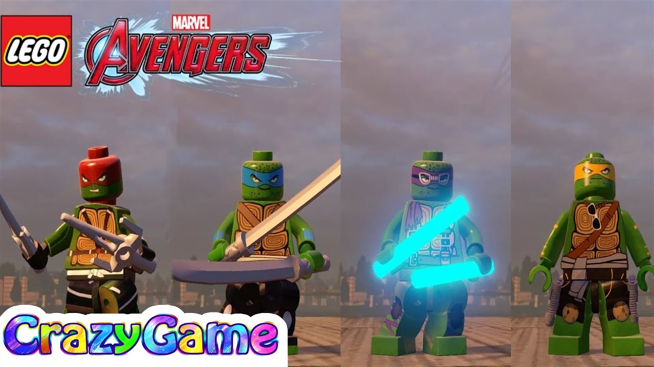 Lego Teenage Mutant Ninja Turtles In Lego Marvel S