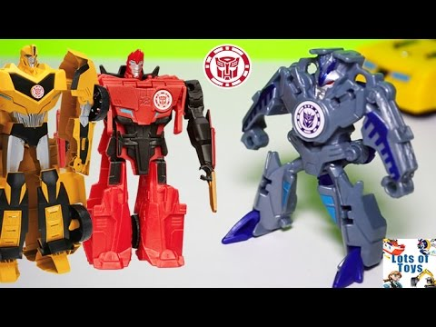 Decepticons Vs Transformers Robots in Disguise Sideswipe, Bumblebee, Optimus Prime and More