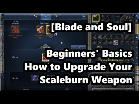 [Blade and Soul] Beginners' Basics: How to Upgrade Your Scaleburn Weapon!