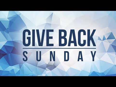 Give Back Sunday 2017: The Joy of Giving